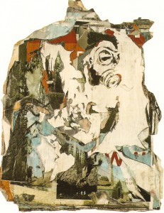 Posters de rua colados em layers e tinta branca 174x140 cm
