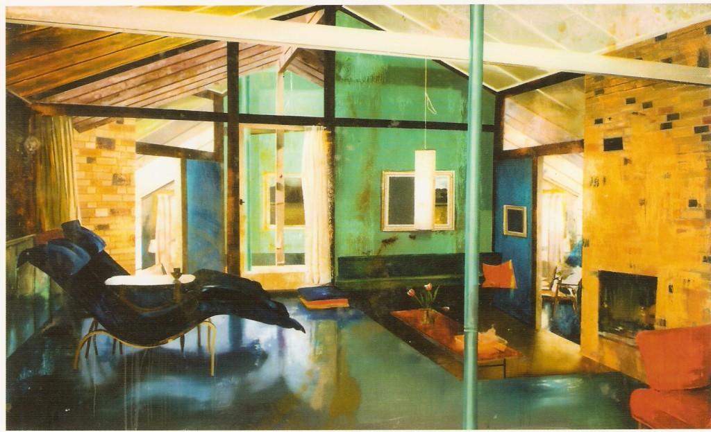 Óleo sobre vidro acrílico 120 x 200 cm