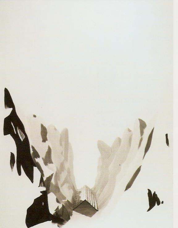 Tinta-da-china e acrílico sobre papel, 160x120 cm