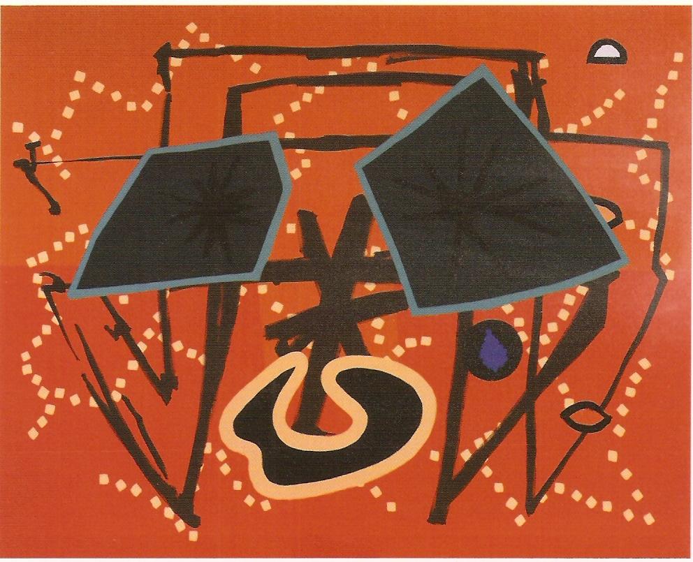 Acrílico sobre tela,  200 x 250 cm