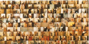 Fotografia, 140 fotos em papel Kodak sobre madeira, 100 X 200 cm