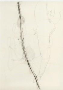 Tinta-da-china e Colagem s/papel 52x40cm