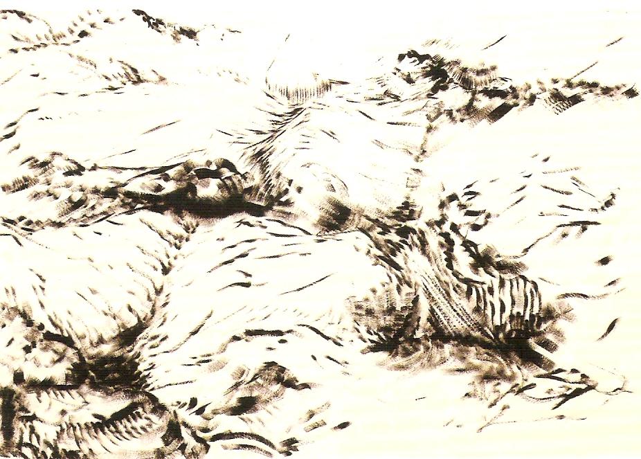 Acrílico sobre papel, 210x320 cm