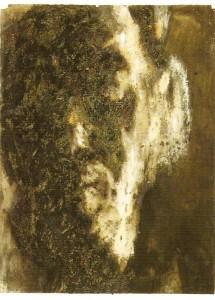 Óleo sobre papel, cinza e carvão, 76,5x56,5 cm