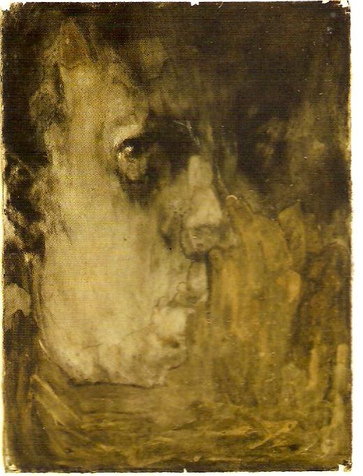Óleo sobre papel, cinza e carvão, 76.5x56 cm