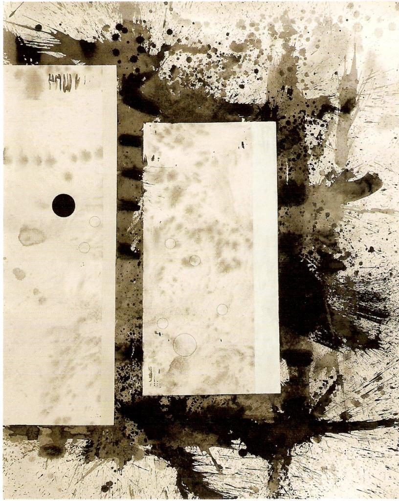 Tinta-da-china, acrílico e esmalte s/ papel 170x122cm