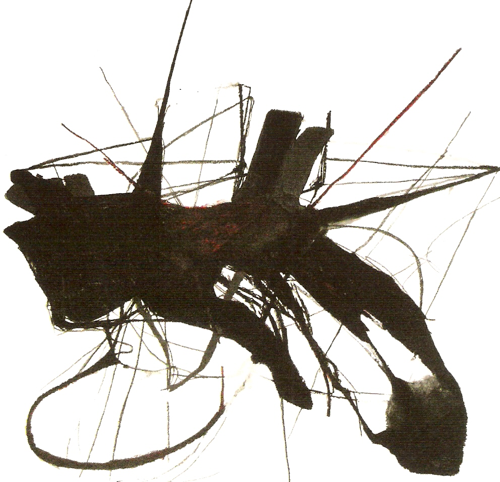 Carvão, barra de óleo e grafite sobre papel 150cm x 220cm