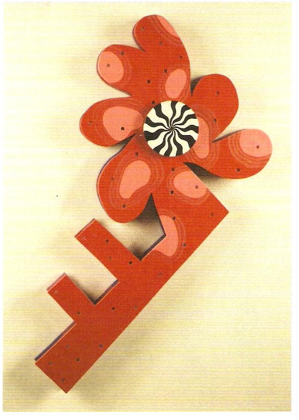 Acrílico sobre madeira,  95 x 57 x 6 cm