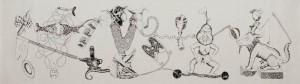 Tinta-da-china s/ papel, 150x600cm