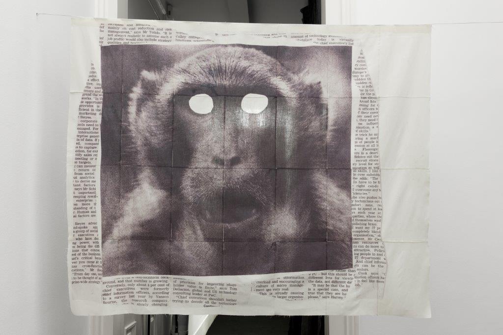 Impressão jacto de tinta sobre pano 114 × 139 cm